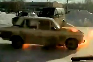 Lada Engine Explodes