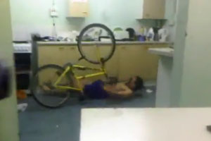 Bike Fail In Kitchen