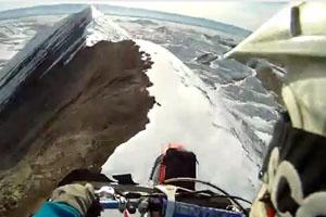 Motocross Bike On Mountain Top