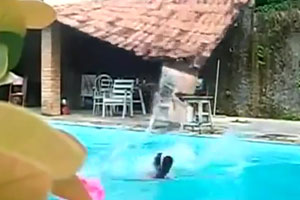 Tightrope Fail Over Pool