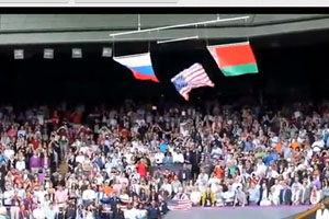 USA Flag Falls During Olympic Wimbledon