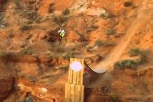 Cam Zink Canyon Gap Jump Crash