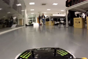 Office RC Car to Face