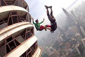 Amazing Basejumping In Kuala Lumpur