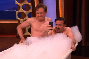 Ricky Gervais And Conan Made A Bath Picture