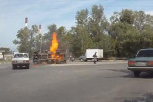 Truck Set On Fire