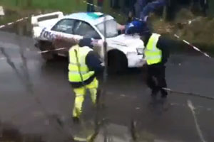 Guy Hit By Rally Car