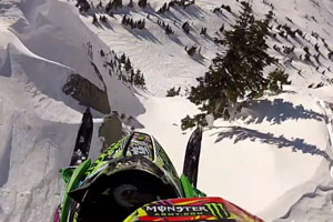 Amazing Snowmobile Air Jump