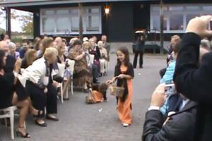 Little Girl Fails On The Wedding