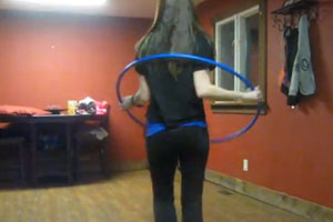 Girl And Hula Hop