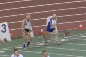 90-Year-Old 100m Run