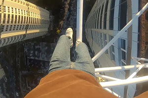 Crazy Walking High Above Ground