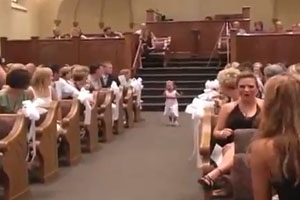 Crying Girl At The Wedding