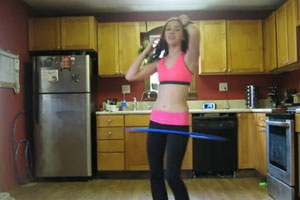 Sexy Dancing With Hula Hoop
