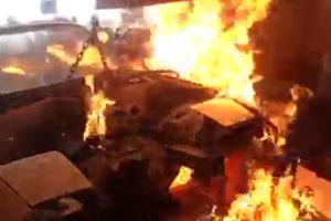 Car Engine On Fire