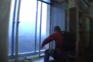 Russian Guys Jumping Out Window