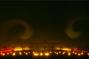 Plane Dives Into Fog