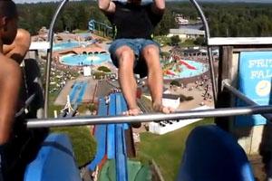 Craziest Drop On Water Slide