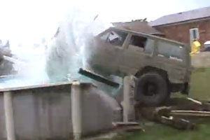 Jeep Into The Pool
