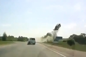 Front Tire Explosion Results In Crash