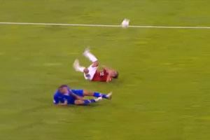 Brutal Soccer Foul