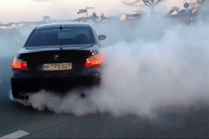 BMW M5 Sound And Donuts