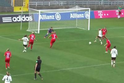 Woman Scores Amazing Goal