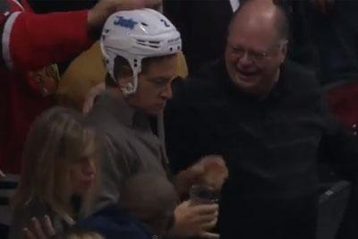 Drunk Fan Steals A Helmet
