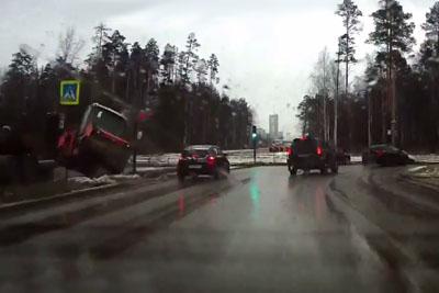 Roller Falls Off A Truck
