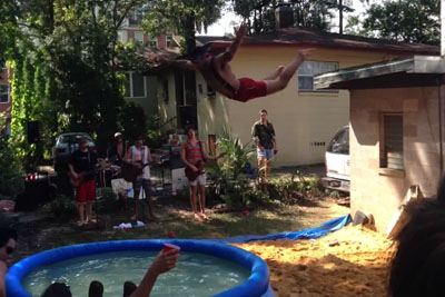Belly Flop Into Small Pool