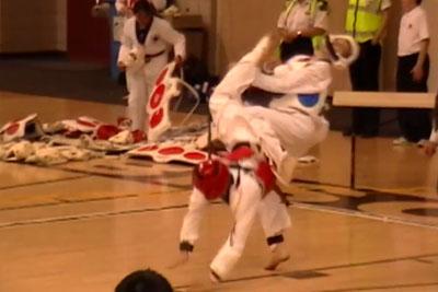 Amazing Taekwondo Knockout