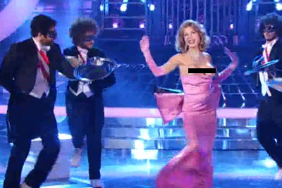 Italian Woman Unknowingly Showing Her Breasts On National TV