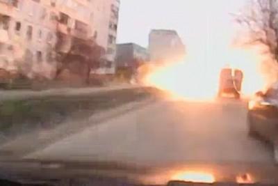 Russian Rocket Attack on Mariupol, Ukraine