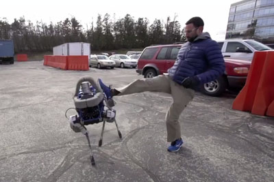 Four-Legged Robot That Can't Tip Over Even By Strong Kicking