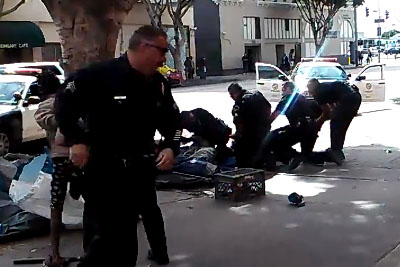 Cops Killing A Black Homeless Man In Los Angeles