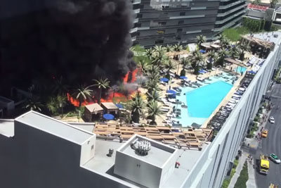Prestige Cosmopolitan Hotel In Las Vegas on Fire