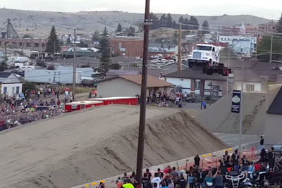 World Record Jump With A Semi Truck