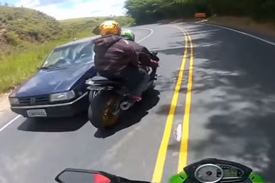 Bikers Close Call Compilation 2015