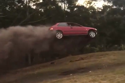 Have You Ever Seen A Honda Civic Car Flying?