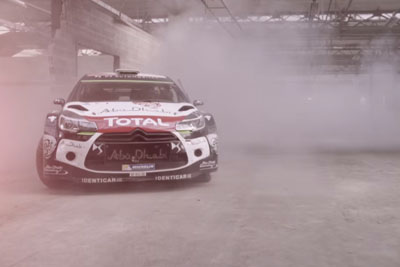 Sebastien Loeb Drives His DS3 WRC In Gymkhana Style