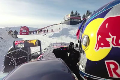 Max Verstappen Takes His F1 Race Car On A Ski Resort In Kitzbuhel