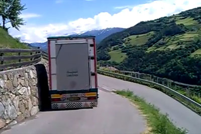 This Truck Driver Is Master In Reversing On A Narrow Road
