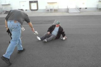 Lightning-Fast RC Car Takes Down An Old Guy So Hard It Knocks His Shoe Off