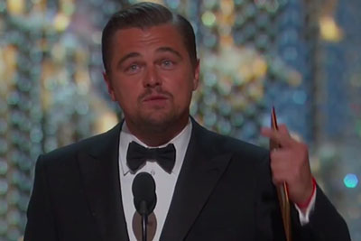 Leonardo DiCaprio Finally Wins Best Actor And Recives Standing Ovation At The Oscars