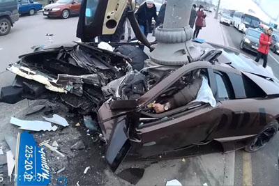 Saving The Passenger In A Deadly Lamborghini Crash In Russia