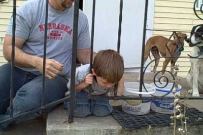 Kid Stuck In The Fence Tries To Get Out, Then This Happened