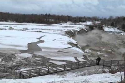 Satisfying Video Of Ice Disintegrating At Waterfalls