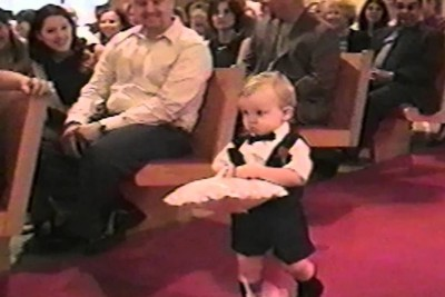 This Tiny Ring Bearer Is Doing His Job Perfectly - Until He Gets To The End