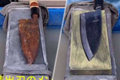 Japanese Sharpening Master Turns Rusted Blade Into A Brand New Knife