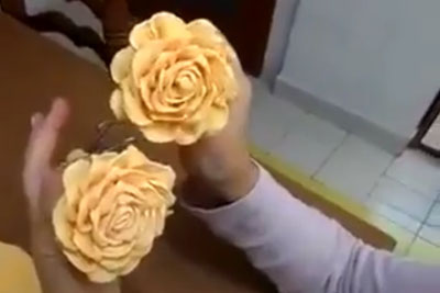 I Never Knew It's So Easy To Make Crepe-Paper Roses